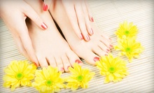One or Two Mani-Pedis at Marjan's Place Salon & Spa (Up to 56% Off)