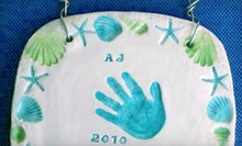 $39 for Ceramics Class to make a Baby Hand and Foot Print Tile at Clay Owen Studios ($85 Value)