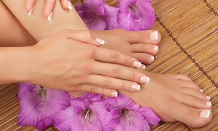 Mani-Pedi Packages with Paraffin Treatment at JuliAnne's Salon & Spa (Up to 59% Off). Three Options Available.