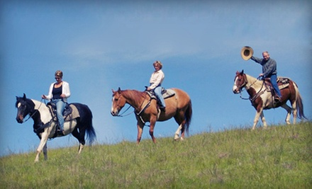 One- or Two-Hour Semiprivate Horseback Trail Ride for Two on a Weekday or Weekend from Dakota Stables (Up to 71% Off)