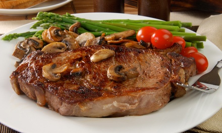 Steak-House Food and Drinks at DC Steak House (Up to 41% Off). Four Options Available.