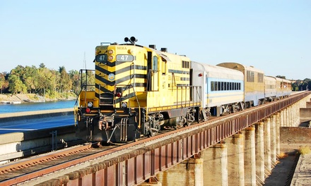 Pumpkin Train Ride for One Adult or Child from Sacramento RiverTrain (38% Off). Six Options Available.