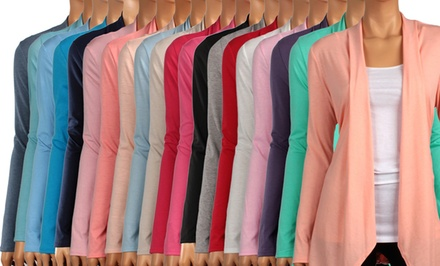 Women's Springtime Draped Cardigans. Multiple Colors Available. Free Returns.