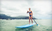 One-Hour Beginner Standup-Paddleboarding or Surfing Lesson for Two or Four from Paddle Surf RI (Up to 59% Off)