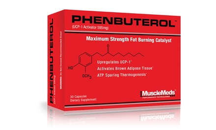 30-Day Supply of MuscleMeds Phenbuterol Maximum Strength Fat Burning Catalyst