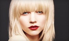 Haircut with Gloss Treatment and Optional Color or Partial or Full Highlights at Moda Aveda Salon (Up to 58% Off)