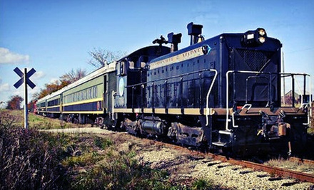 Scenic Train Ride for Two or Four from The Coopersville & Marne Railway Company (Up to Half Off)