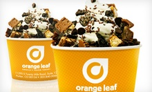 $5 for $10 Worth of Frozen Yogurt at Orange Leaf Frozen Yogurt