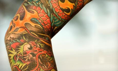 Piercing and tattoos jade dragon tattoo groupon for Jade dragon tattoo