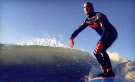 $50 for a Two-Hour Introductory Surfing Lesson at University of Surfing ($100 Value)