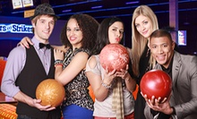 Hour of Bowling For Two or Six with Shoe Rental, Arcade Credits &amp; Bumper Car Passes at Stars and Strikes (Up to 58% Off)