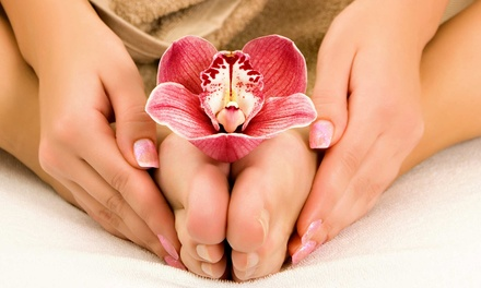 Spa Mani-Pedi or 60-Minute Massage or Facial at Solaire Hair Studio and Spa (Up to 51% Off)