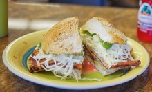 Mexican Meal with Chalupas, Cemitas, and Drinks for Two or Four at Cemitas Puebla (Up to 55% Off)