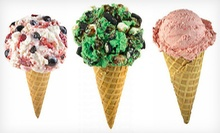 Two or Four Ice-Cream Cones with Two Mix-Ins or 3 Quarts of Take-Home Ice Cream at Marble Slab Creamery (Up to 54% Off)