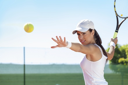 One, Two or Four 60-Minute Semi-Private Tennis Lessons at play tennis! Orange County (Up to 59% Off)