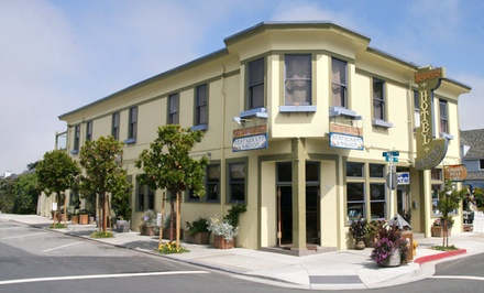 groupon daily deal - 1- or 2-Night Stay for Two in a Queen Room with Two Well Drinks at San Benito House in Half Moon Bay, CA
