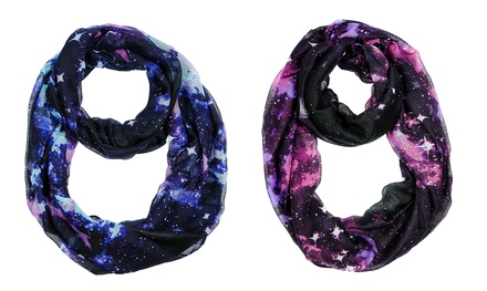 Galaxy Printed Infinity Scarf