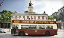 Hop-On, Hop-Off Bus Tour for One, Two, or Four from Philadelphia Trolley Works (Up to 55% Off)