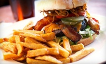 Burgers, Pizza, and Pub Food at Nick's Sports Grill and Lounge (53% Off). Two Options Available.