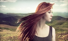 Keratin Treatment or Haircut-and-Color Packages at Tamed Hair Salon (Up to 67% Off). Five Options Available.