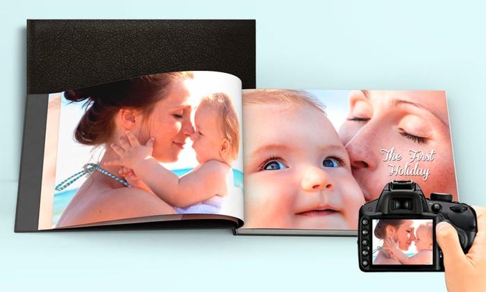 Álbum de fotografias personalizado com capa em pele desde 9,99€
