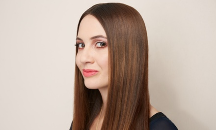 Keratin Hair-Smoothing Treatment, Cut with Blowout, Color, or Highlights at Shear Splendor (Up to 67% Off)