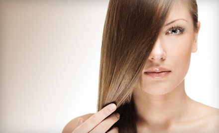 Haircut with KeraTriplex Keratin Treatment, Partial Highlights or Single-Process Color at Monaco Salon (Up to 74% Off)
