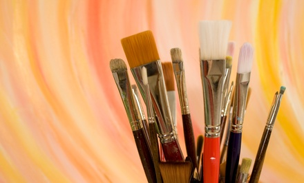 BYOB Painting Class for One or Two at Wild Brush Studio (Up to 51% Off)