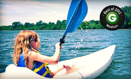 Two-Hour Kayakor Canoe Rental, or a One-Hour Standup-Paddleboard Rental or Lesson at Wingra Boats (Up to 58% Off)