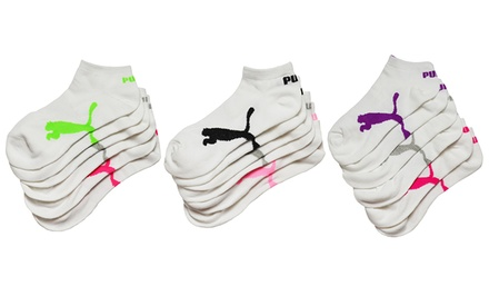 Puma Women's Low-Cut Socks; 6-Pair Pack. Multiple Color Packs Available.