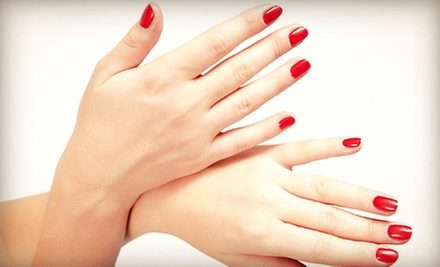 Spa Mani-Pedi, One or Two No-Chip Manicures, or a Full Set of Acrylic Nails at By Faith Nail Suite (Up to 58% Off)