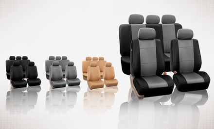Full Set of Faux-Leather Car-Seat Covers Airbag