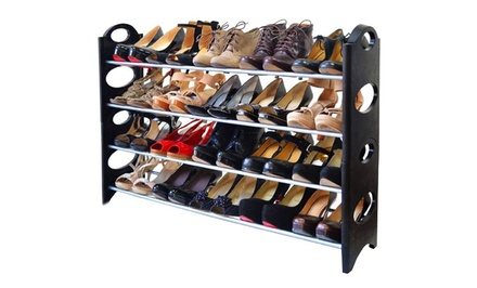 20-Pair Shoe Rack | Groupon