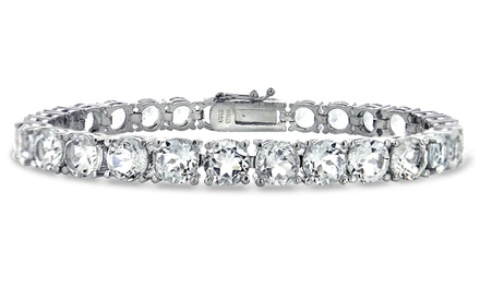 28 CTTW White Topaz Tennis Bracelet
