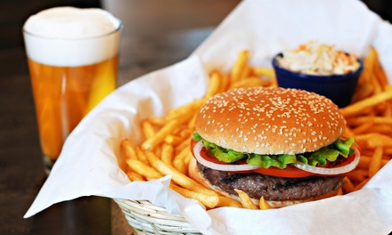 Burgers and Sausages from Tomahawk Sports Bar & Grill (Up to 40% Off). Two Options Available.
