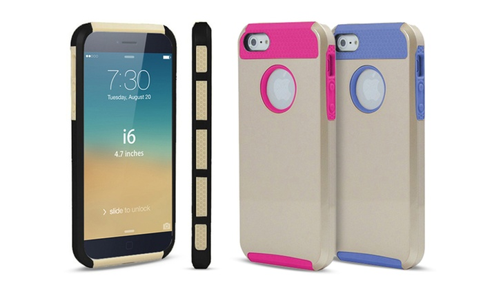"3DLuxe Dual-Layer Gold Case for 4.7"" iPhone"