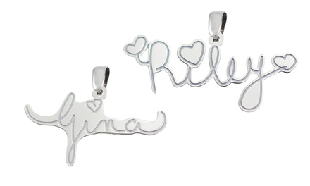 $24.99 for a Custom Sterling Silver Signature Pendant from Kidz Can Design ($129.99 value)