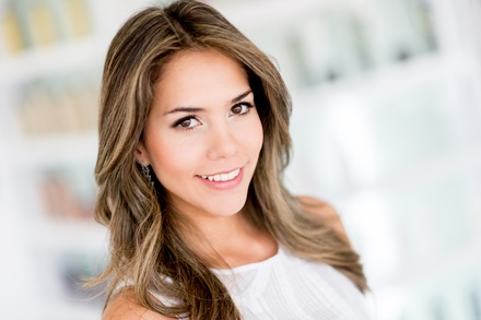 Deep Conditioner, Blow-Dry, and Style with Optional Partial Highlights or Haircut at New Hair Concept (60% Off)