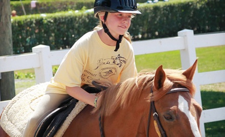 Group or Private Horseback-Riding Lesson or a One-Day Camp at Thomas School of Horsemanship (Up to 59% Off)