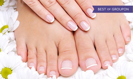 Basic or Shellac Mani-Pedi at Serenity Nails and Spa (Up to 41% Off)