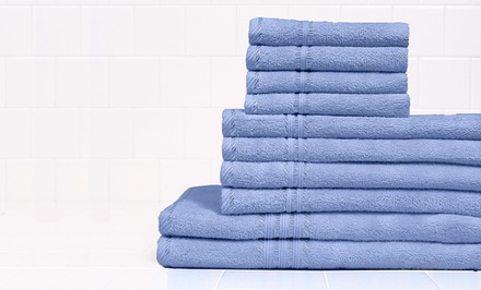10-Piece Simply Lush Egyptian Cotton Towel Set