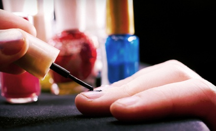 Mani-Pedi with Wine, or Shellac Manicure and Pedicure with Wine at The Phoenix Studio - Tia Bell (Up to 59% Off)