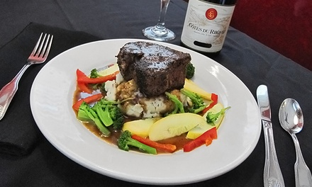 Steak and Seafood for Dinner or Sandwiches and Burgers for Lunch at Lisa's Café (40% Off)