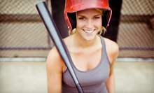 60 Minutes in the Batting Cages, or One- or Three-Month Membership at Benchwarmers Sports Complex (Up to 73% Off)