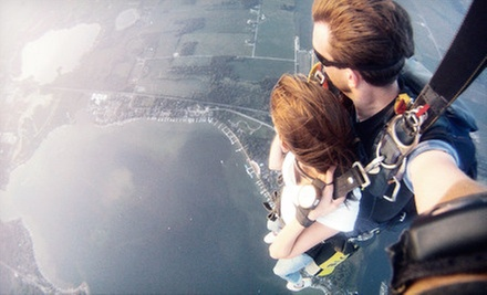 Tandem Skydive for One, Two, or Four with Photo Package from Skydive Lake Wawasee (Up to 48% Off)
