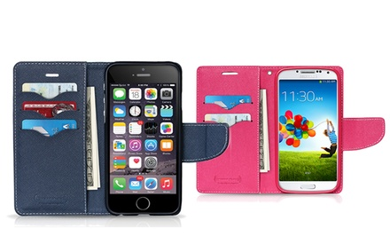 Press Play PocketFolio Slim Wallet Case for iPhone 5/5s or 6 or Samsung Galaxy S4 or S5 from $7.99–$8.99