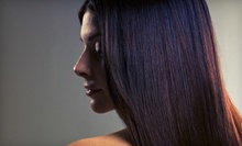 Cut with Full Color or Full or Partial Highlights, or a Keratin Treatment at Salon Allure (Up to 67% Off)