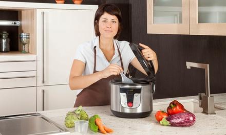 Robô de cozinha Newcook metalizado com capacidade para 5 litros por 45,94€