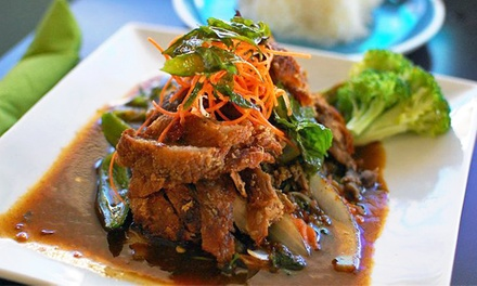 Thai Dinner for Two or Four with Appetizers and Entrees at Thai Cuisine Restaurant (Up to 45% Off)