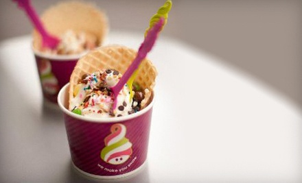 Self-Serve Frozen Yogurt at Menchie's (Half Off). Two Options Available.
